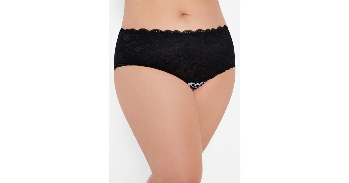 4217cf2eb61 Lyst - Ashley Stewart Plus Size Leopard Hipster Panty With Caged Sides in  Black
