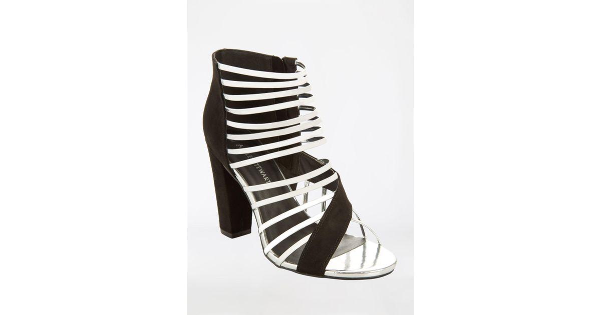 3663eddcfacc Lyst - Ashley Stewart Open Toe Strappy Heeled Sandal - Wide Width in Black