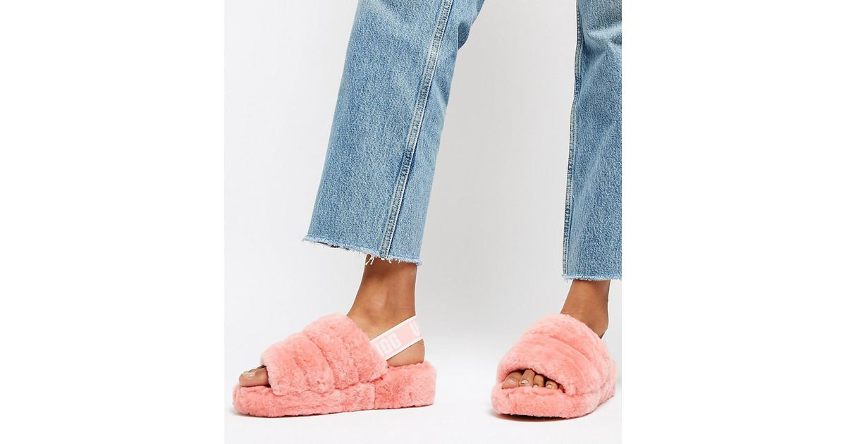 e5133b16725 Ugg Exclusive Pink Fluff Yeah Slipper Slides