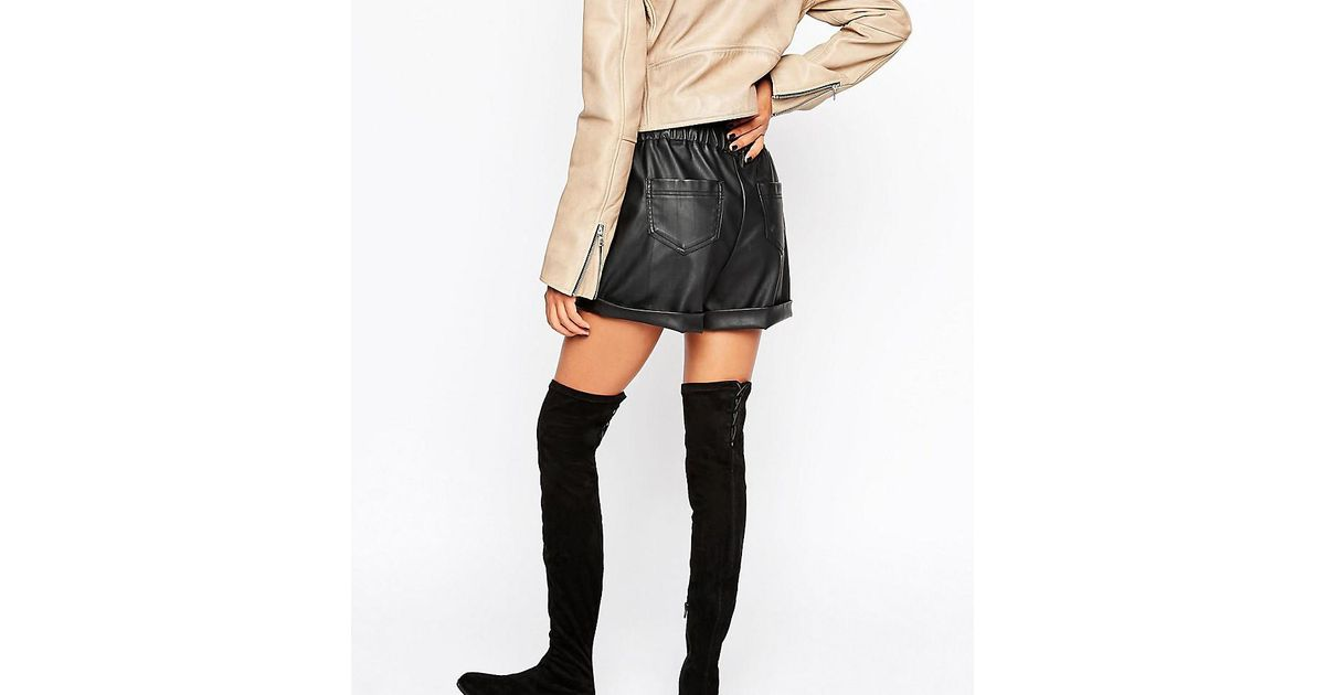 471dfc660f1 ASOS Keepers Flat Over The Knee Boots in Black - Lyst