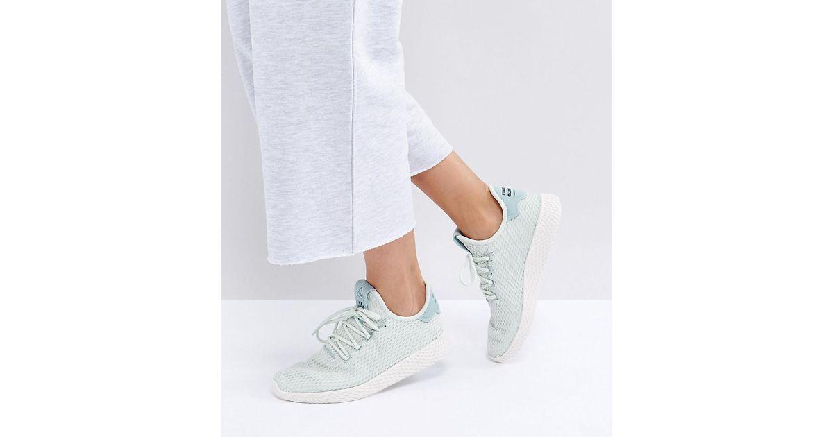 52e7a325 Adidas Originals X Pharrell Williams Tennis Hu Sneakers In Pale Green