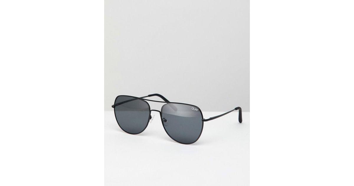 6f625b2c055ef Quay Living Large Aviator Sunglasses in Black - Lyst