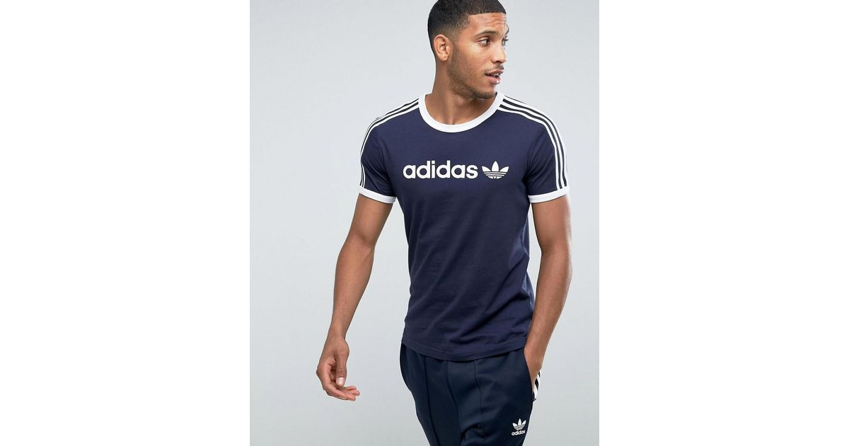 eea2d405 adidas Originals Adicolor Linear T-shirt In Navy Bq7559 in Blue for Men -  Lyst