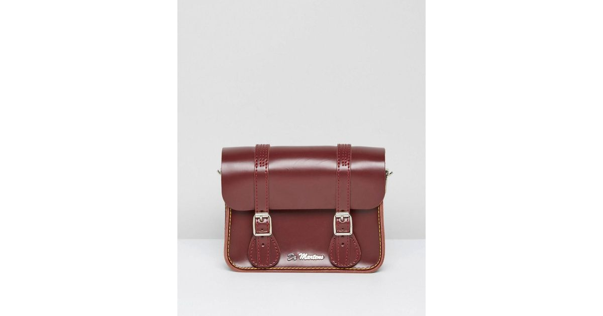 Satchel Inch Red DrMartens 7 Leather dBxCore