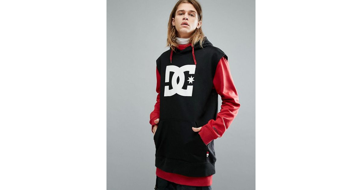 f39f173084 DC Shoes Snow Dryden Hoodie With Double Layered Body In Red in Red for Men  - Lyst
