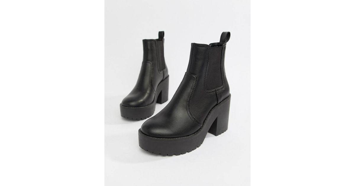 Lyst - ASOS Element Chunky Chelsea Boots in Black 9ddef419051