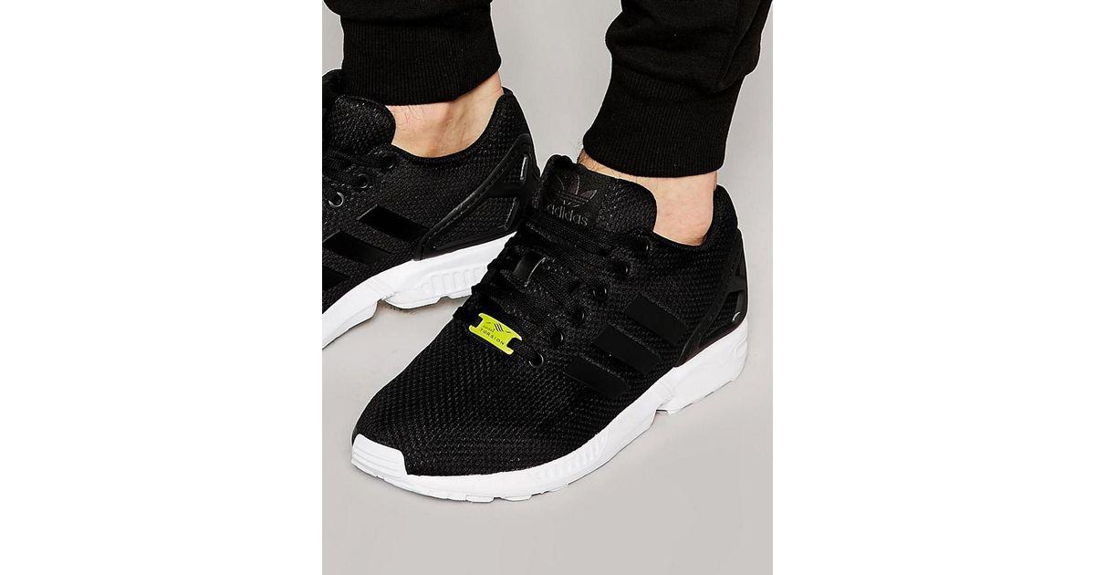 adidas originals zx flux sneakers in black m19840