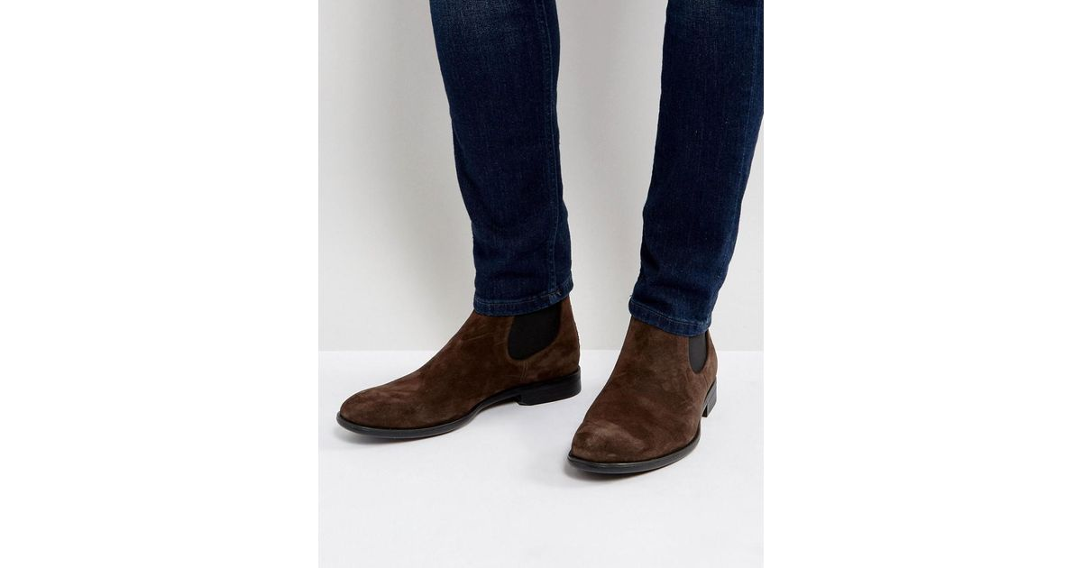 Vagabond Harvey Suede Chelsea Boots in