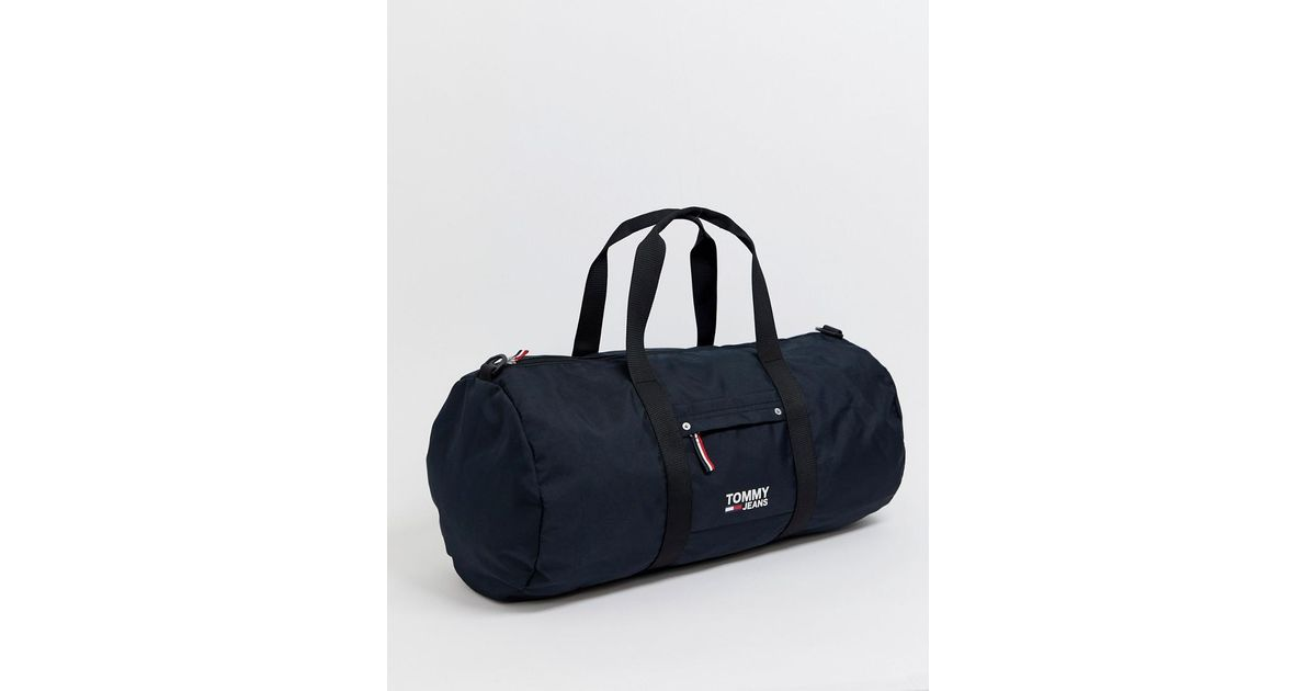 48748ee4 Tommy Hilfiger City Duffle Bag With Icon Stripe Detail In Black in Black  for Men - Lyst