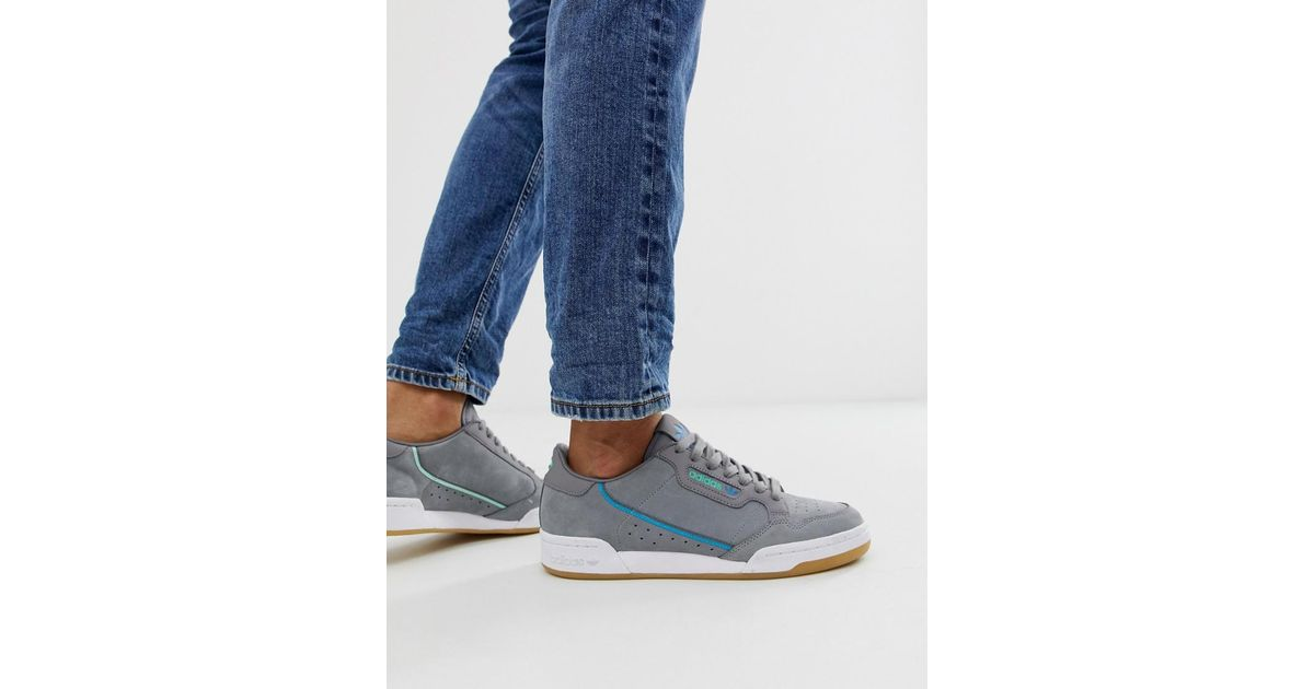 20938c02d27d adidas Originals Continental 80 s Tfl Victoria Waterloo Line Trainers In  Grey in Gray for Men - Lyst