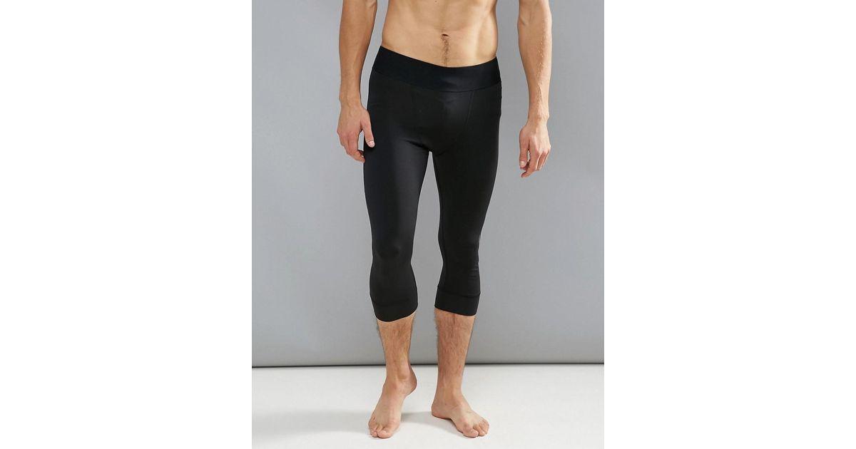 2037c4dc2792bd adidas Originals Adidas James Harden 3/4 Length Gym Training Tights in  Black for Men - Lyst