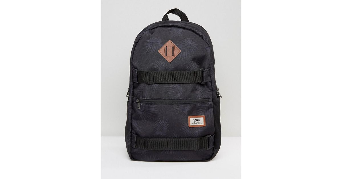 4641dd0d068a Vans Black Authentic Iii Skate Backpack In Palm Print for men