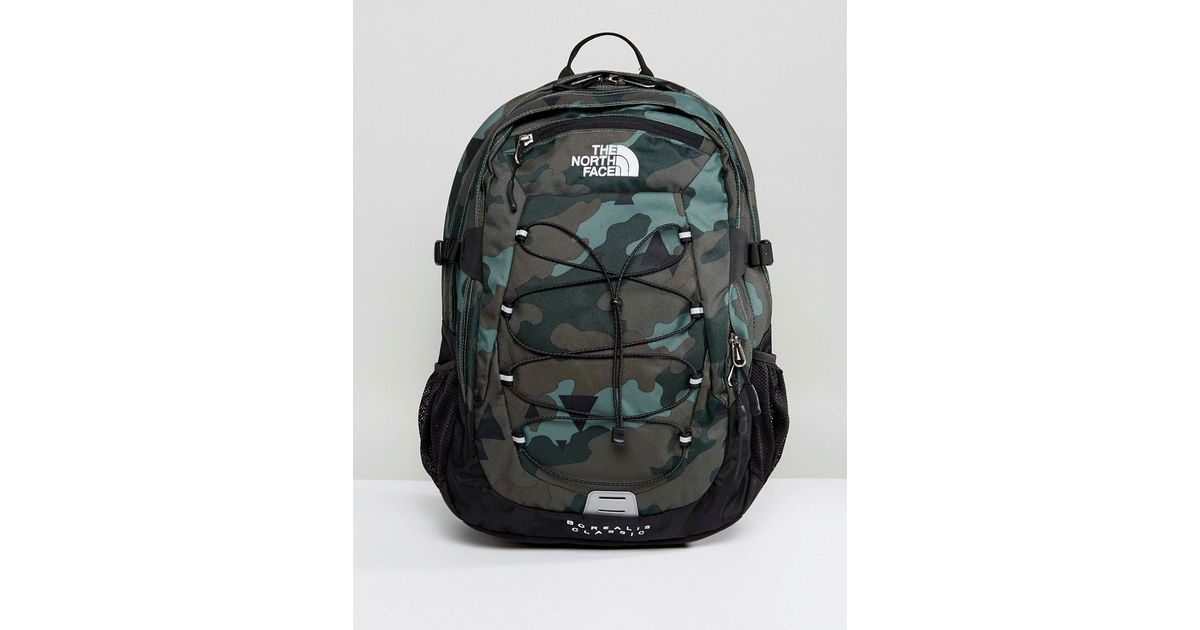 f828a4880 The North Face Green Borealis Backpack In Camo for men