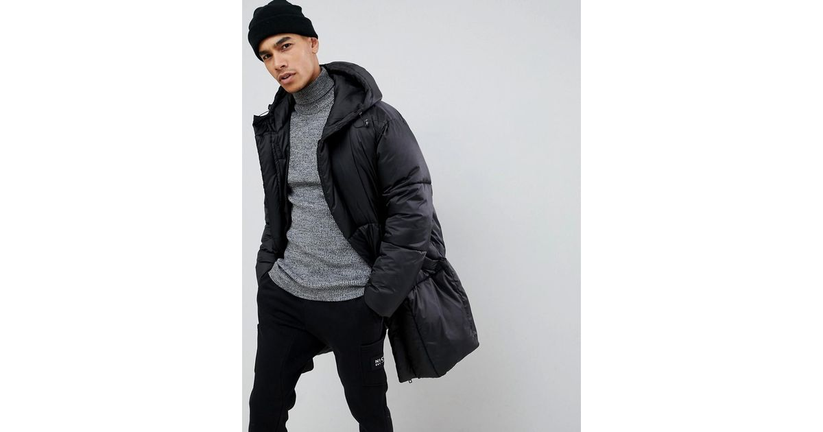 b53f07de01f ASOS Oversized Puffer Jacket With Detachable Mittens In Black in Black for  Men - Lyst