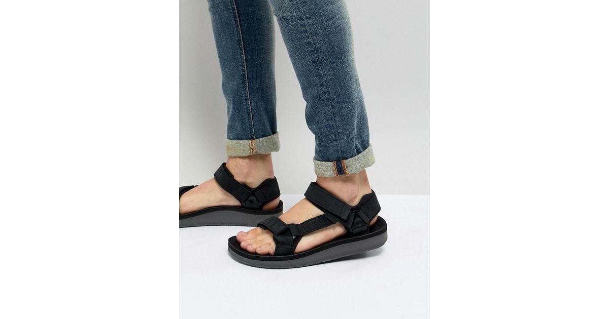 08f8d0338f05 Lyst - Teva Original Universal Premier Leather Sandals in Black for Men