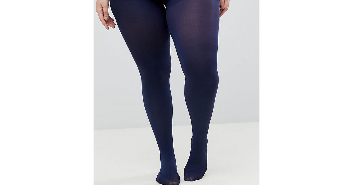 5614ae088d785 ASOS Asos Design Curve Super Stretch 90 Denier Tights In Navy in Blue -  Save 38% - Lyst
