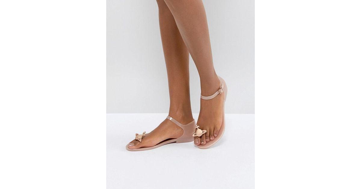 Honey Pink Orb Flat Sandals