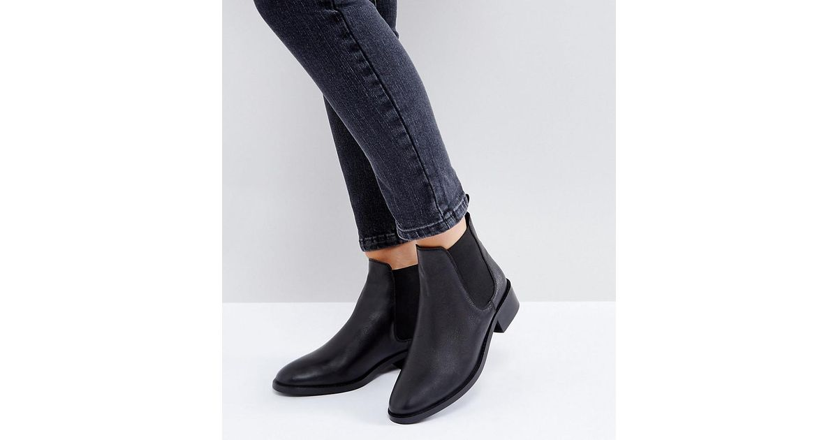 great deals on fashion moderate cost latest trends of 2019 ASOS Black Asos Absolute Wide Fit Leather Chelsea Ankle Boots