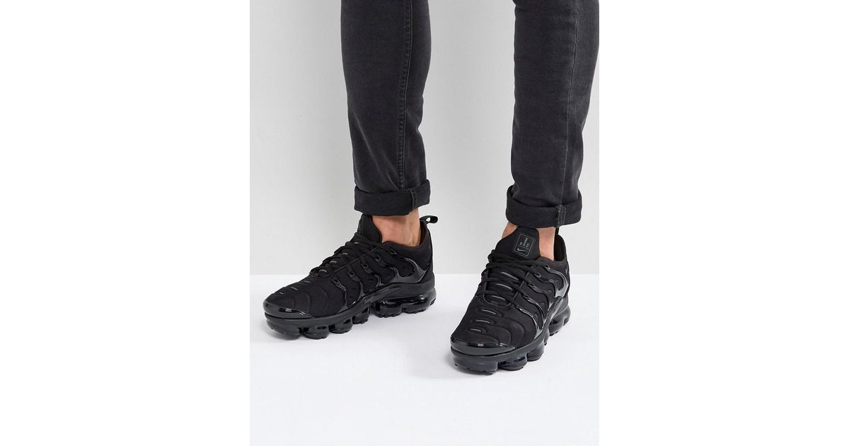 promo code 9d1e0 2ef56 Nike Air Vapormax Plus Trainers In Black 924453-003 for men