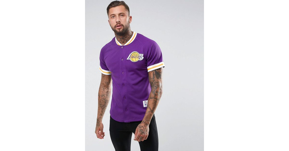 c326b94c Mitchell & Ness Nba L.a Lakers Mesh T-shirt in Purple for Men - Lyst