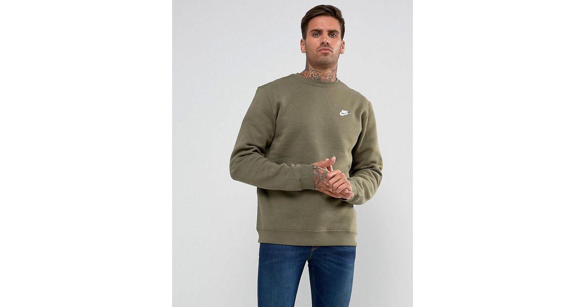 nike club swoosh crew sweatshirt