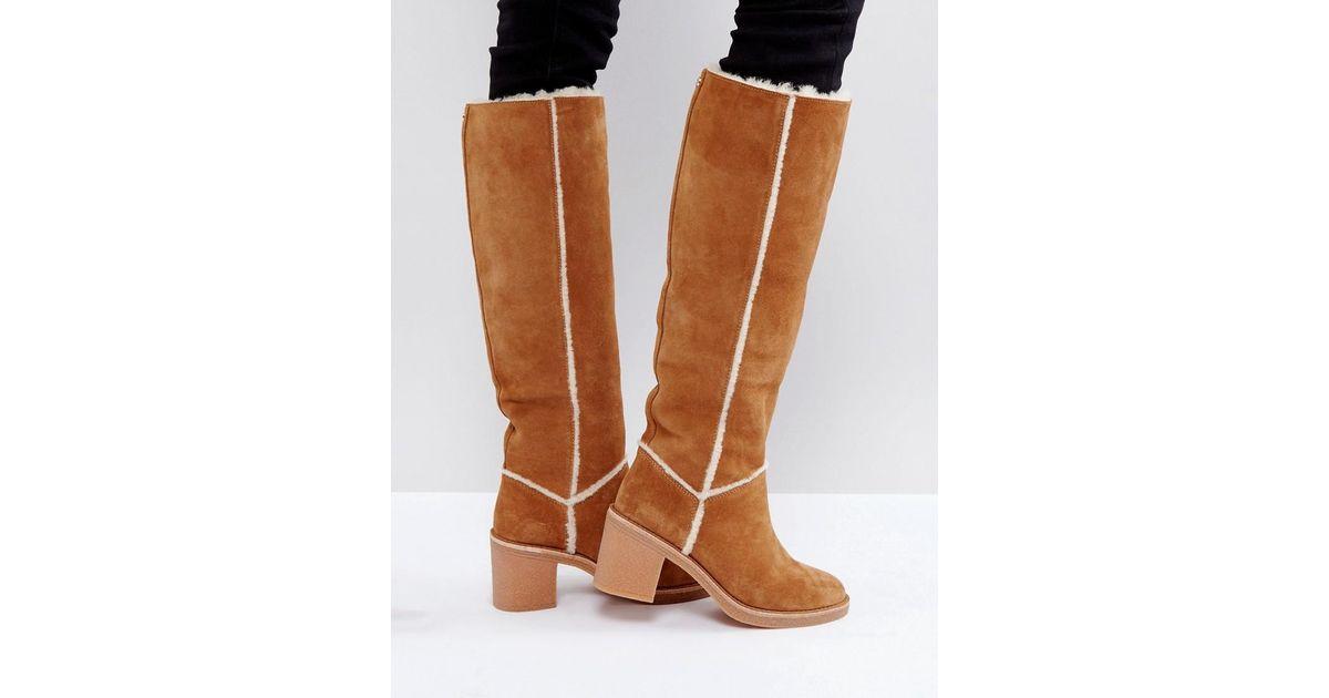 25db5f60e4b Ugg Brown Kasen Tall Heeled Knee Boots Chestnut