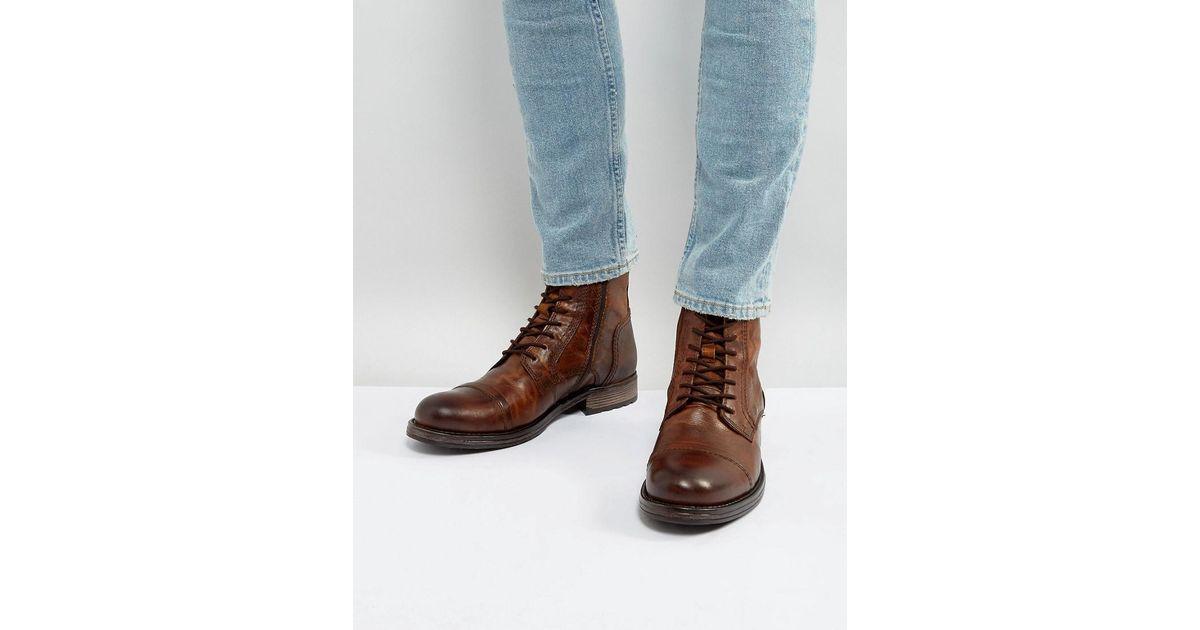 Jack \u0026 Jones Russel Leather Lace Up