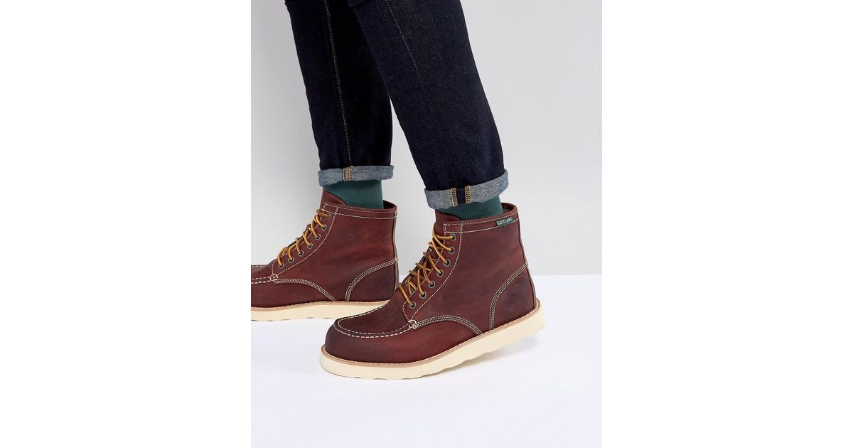 0f864ce3f8c Eastland Red Lumber Up Leather Boots In Oxblood for men