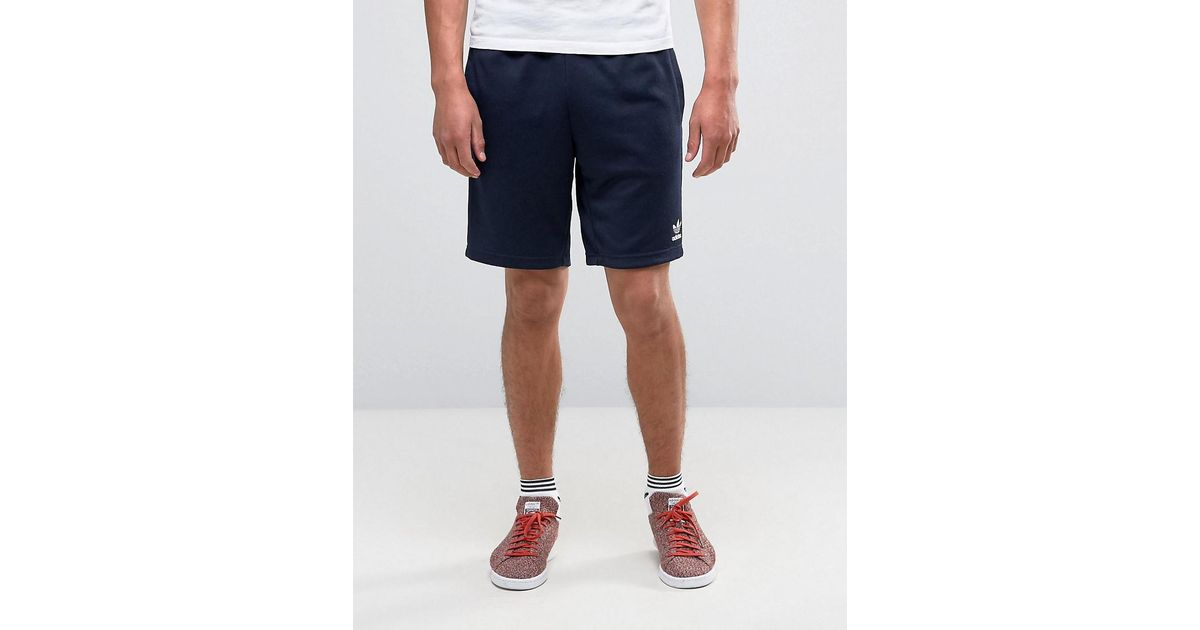 pretty nice f6062 478f6 Adidas Originals Blue Superstar Shorts In Navy Ay7702 for men