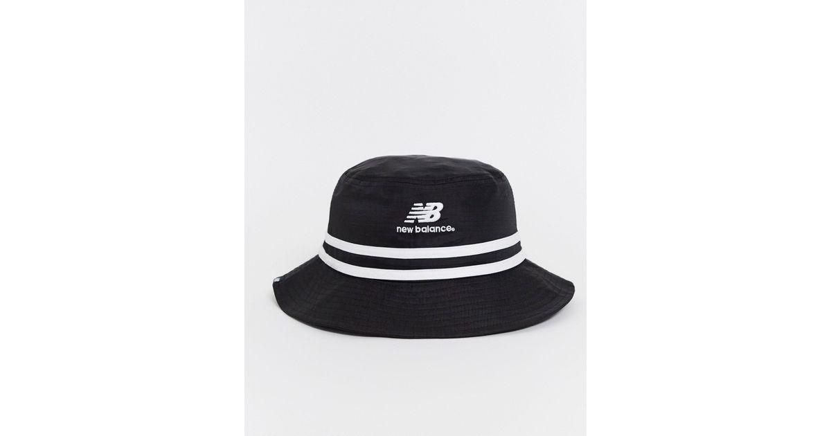 LSA - Bob à logo New Balance pour homme en coloris Noir - Lyst