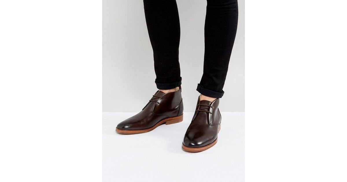 H by Hudson Matteo Leather Desert Boots