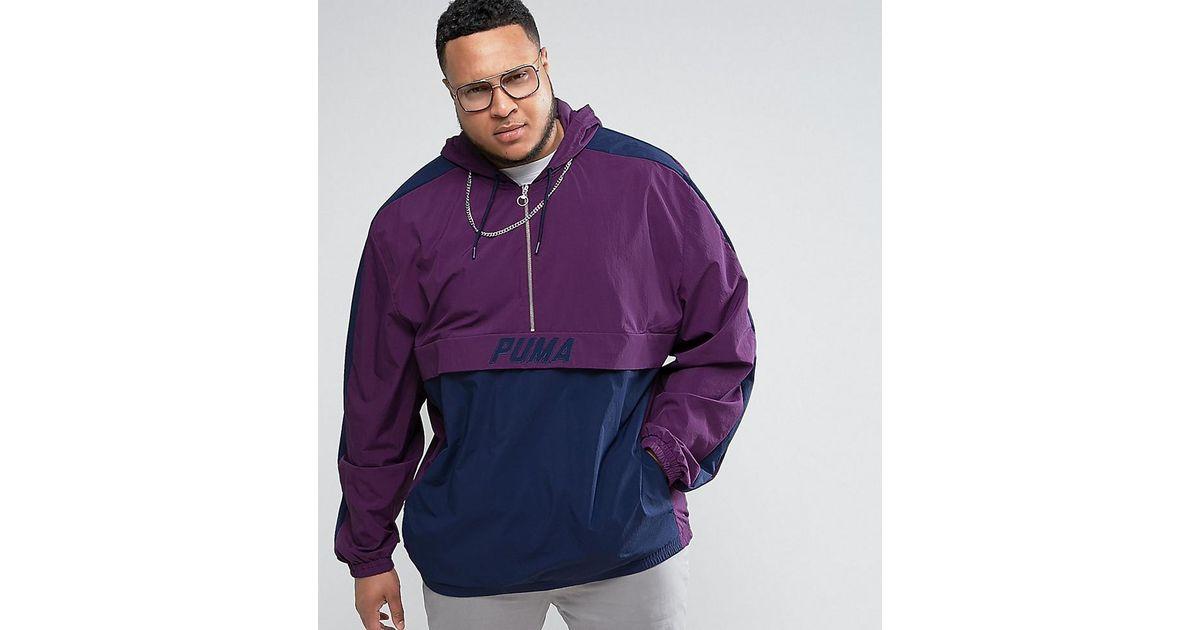 678202cfeff3 Lyst - PUMA Plus Vintage Half-zip Jacket In Purple Exclusive To Asos in  Purple for Men