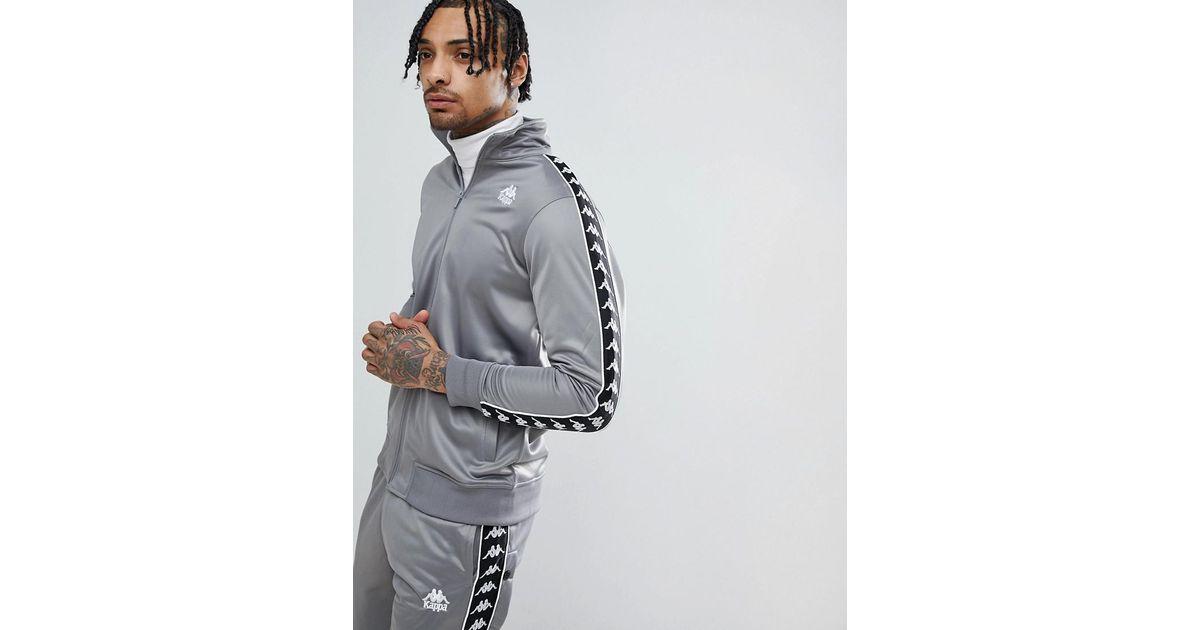 Veste de survtement avec liser aux manches Kappa pour homme en coloris Gray