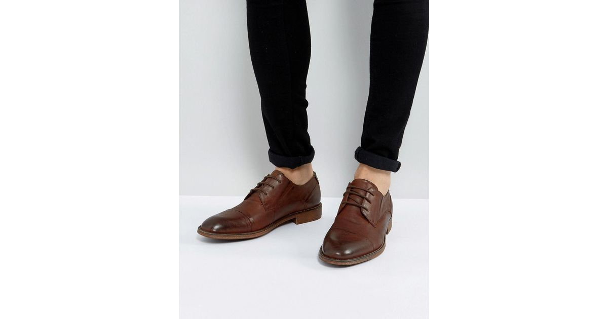 2c655363162 Steve Madden Brown Qhamtim Leather Shoes In Tan for men