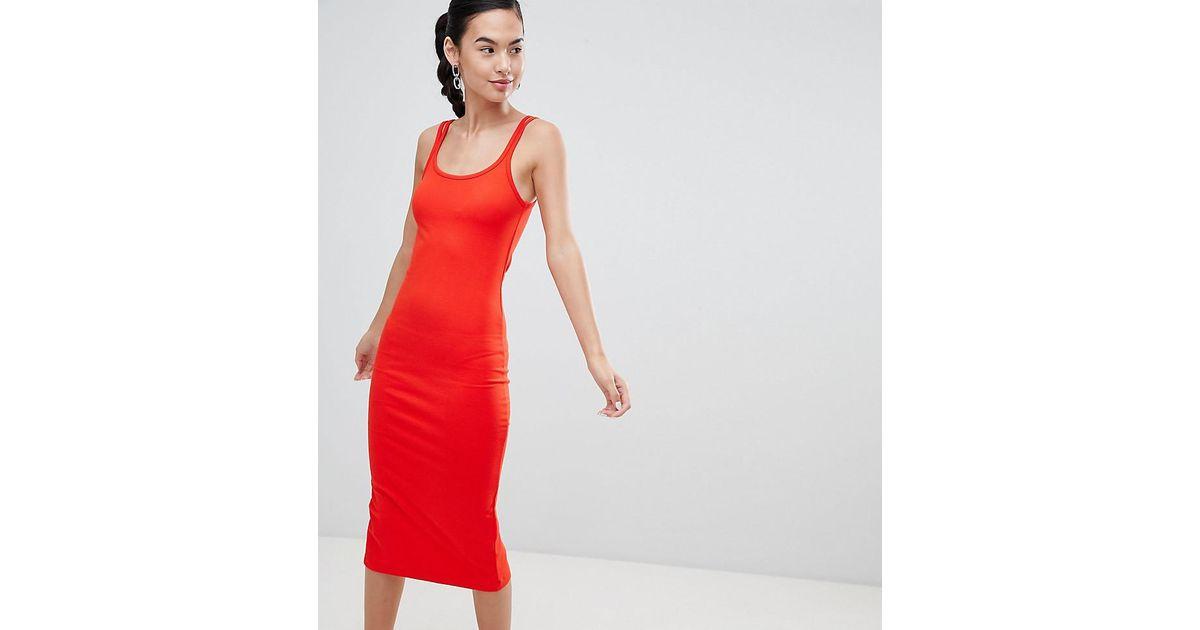 nouveau style ad858 f3d23 Robe mi-longue en jersey Pimkie en coloris Red
