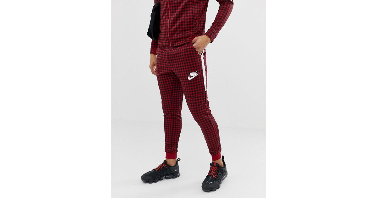 Pantalon Carreaux Coloris De En Nike Pour Red Vichy Jogging Homme v0nw8mN