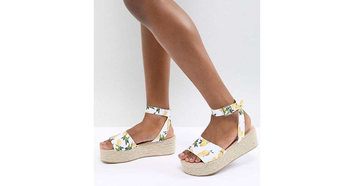 Asos Sandals Flatform Multicolor Espadrille Thear CdexoWrB