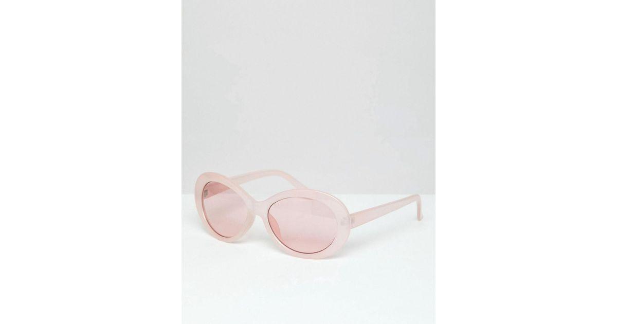 Lyst - Lunettes de soleil ovales avec verres roses ASOS pour homme en  coloris Rose 9b915c0fff61