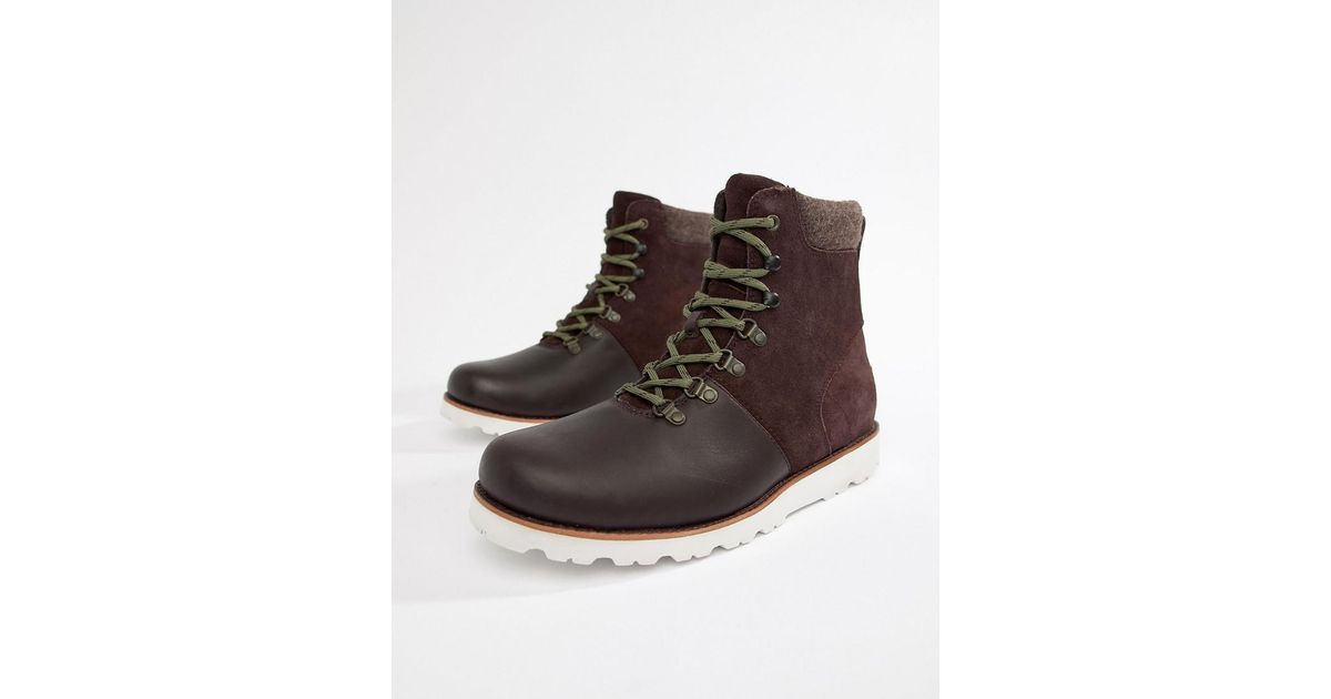 f5ce4b9b247 Ugg Red Halfdan Leather Waterproof Boots In Port for men