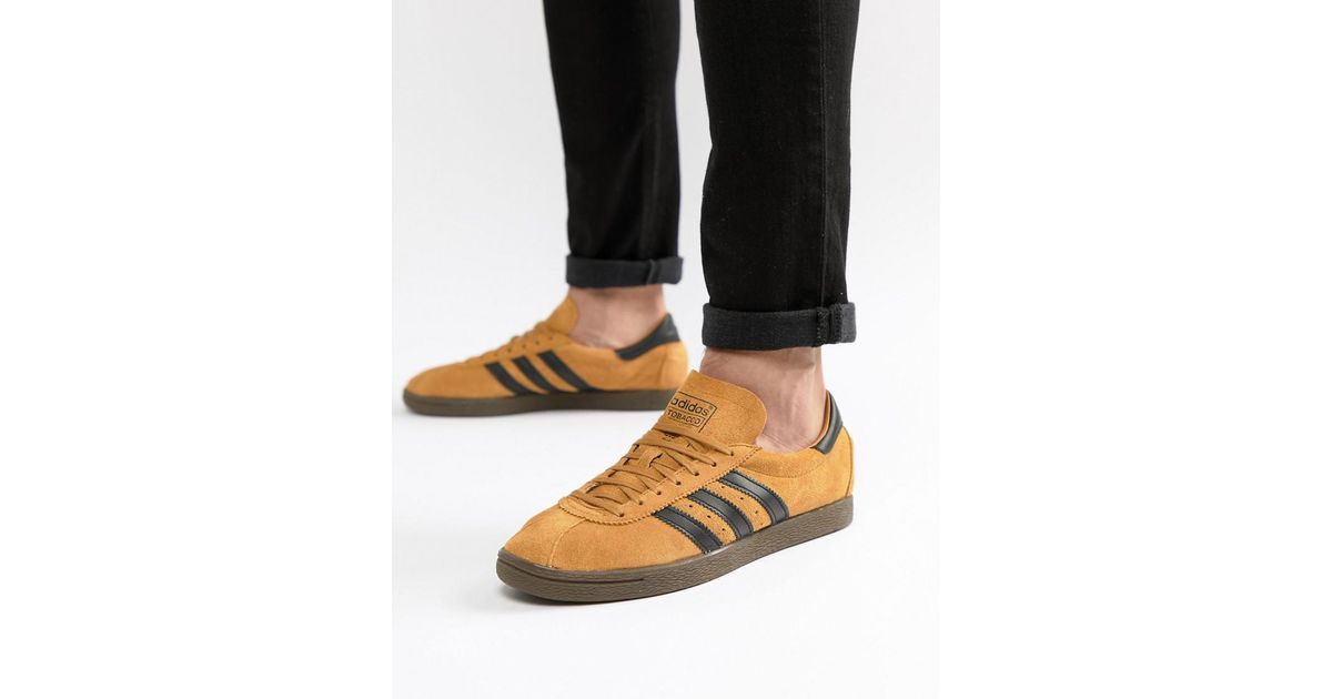 Adidas Originals Tobacco Sneakers In Yellow Cq2761 for men