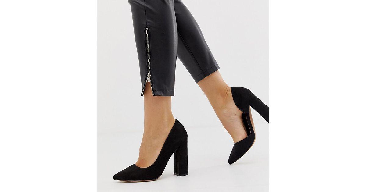 ca87537a231 ASOS Wide Fit Walter D'orsay High Heels In Black