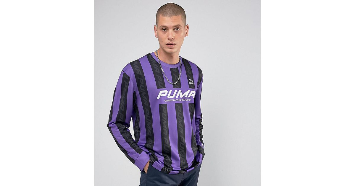 new style 571b0 5ad14 PUMA Retro Soccer Jersey In Purple Exclusive To Asos 57660201 for men