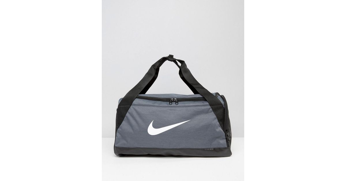 e6de8c7e1fd Nike Small Brasilia Holdall Bag In Grey Ba5335-064 in Gray for Men - Lyst