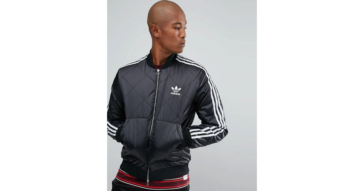 adidas Superstar Quilted Jacket In Black BS3020 | Quilted