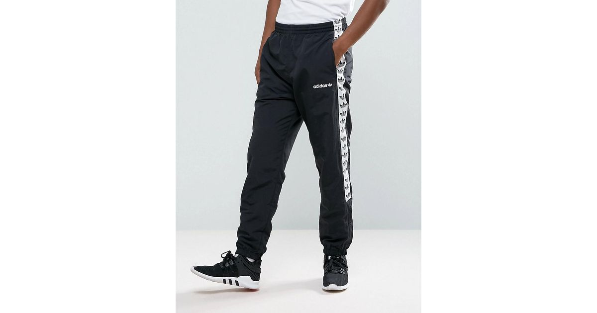 Adidas Originals Adicolor Tnt Tape Wind Track Joggers In Black Aj8830 for men