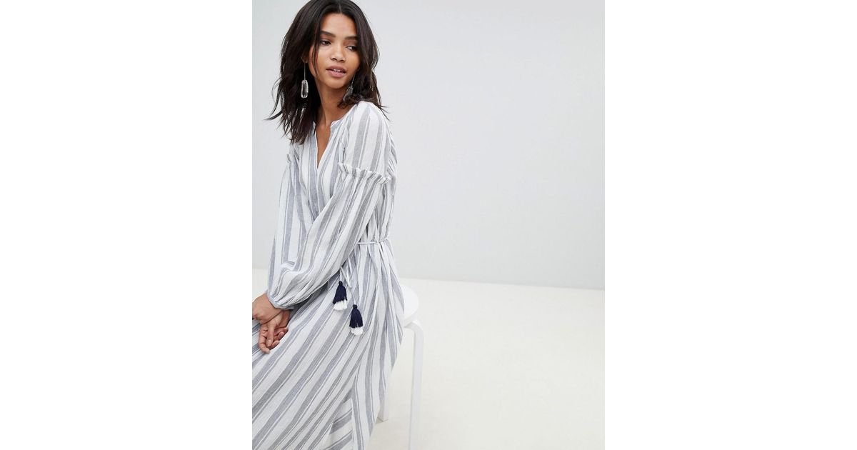 En Rayures Connection Babydoll Pampille French Et White Robe Coloris OTkiuPXZ