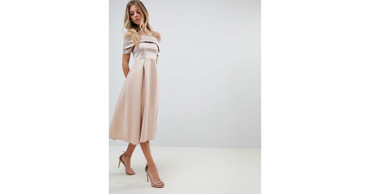 Vesper Pink Bardot Skater Dress