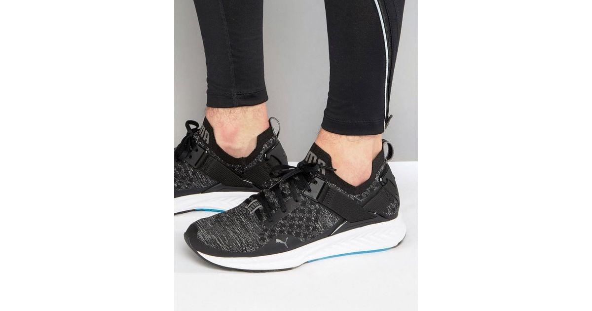 PUMA Running Ignite Evoknit Lo Sneakers In Black 18990401