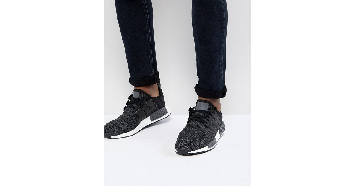 huge selection of 42fed c5a19 adidas Originals Nmd R1 Trainers In Black B79758 in Black for Men - Lyst
