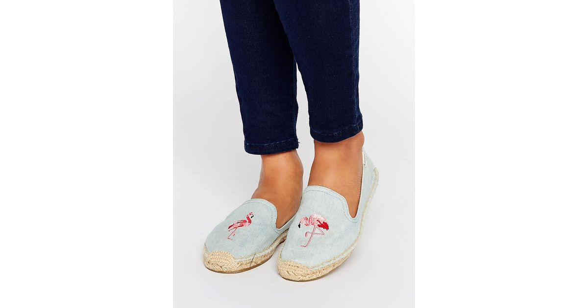 80127a49218 Lyst - Soludos Chambray Flamingo Espadrilles in Blue